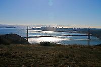 View from Marin Headlands near one of the Golden Gate Raptor Observatory bird banding blinds.