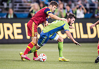 Seattle, Washington - September 12, 2014: Seattle Sounders FC defeated Real Salt Lake 3-2 in Major League Soccer action at CenturyLink Field.