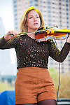 Rebecca Zeller of Ra Ra Riot at  Fun Fun Fun Fest at Auditorium Shores, Austin Texas, November 5, 2011.