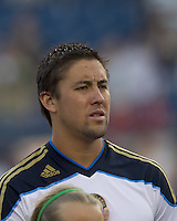 Philadelphia Union midfielder Kyle Nakazawa (13). In a Major League Soccer (MLS) match, the Philadelphia Union defeated the New England Revolution, 3-0, at Gillette Stadium on July 17, 2011.