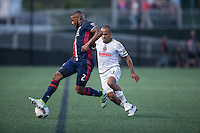Alston, Massachusetts - July 20, 2016:  New England Revolution (blue) beat Philadelphia Union (white) in a penalty shootout 4-2 in overtime after a 1-1 draw in a 2016 Lamar Hunt U.S. Open Cup quarterfinal match at Jordan Field.