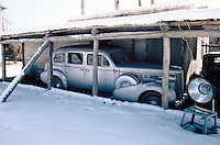 The King Packard Twelve in the courtyard of the Afghan Kabul National museum in December 1982