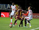 Deportes Tolima que ofició como local en el estadio Metropolitano de Techo, de Bogotá, derrotó 1-0 a Independiente Santa Fe, en compromiso de la fecha 14 del Torneo Clausura 2015.