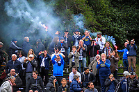 Auckland City fans celebrate after the final whistle during the Oceania Football Championship final (second leg) football match between Team Wellington and Auckland City FC at David Farrington Park in Wellington, New Zealand on Sunday, 7 May 2017. Photo: Dave Lintott / lintottphoto.co.nz