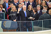 Mike Pence is sworn-in as Vice President of the United States on the West Front of the US Capitol on Friday, January 20, 2017.<br /> Credit: Ron Sachs / CNP<br /> (RESTRICTION: NO New York or New Jersey Newspapers or newspapers within a 75 mile radius of New York City)
