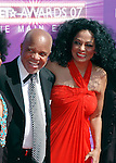 Berry Gordy and Diana Ross arrive at 2007 BET Awards.6th June 2007..© Chris Walter.