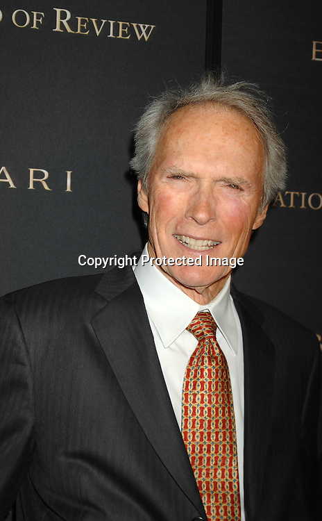 Clint Eastwood  ..arriving at The 2006 National Board of Review of Motion..Pictures Awards on January 9, 2007 at Cipriani 42nd Street. ..The event was sponsored by Bulgari...Robin Platzer, Twin Images