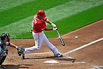 28 May 2011: Washington Nationals infielder Jerry Hairston Jr. in action against the San Diego Padres at Nationals Park in Washington, District of Columbia. The Padres defeated the Nationals 2-1 to even their 3-game series. Mandatory Credit: Ed Wolfstein Photo