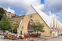 Sweden, Gothenburg. Feskekôrka (Swedish: Fiskkyrkan, English: Fish church) is an indoor fish market.
