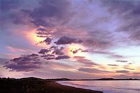 Sunrise over Kaikoura Bay on the Northern Island of New Zealand.