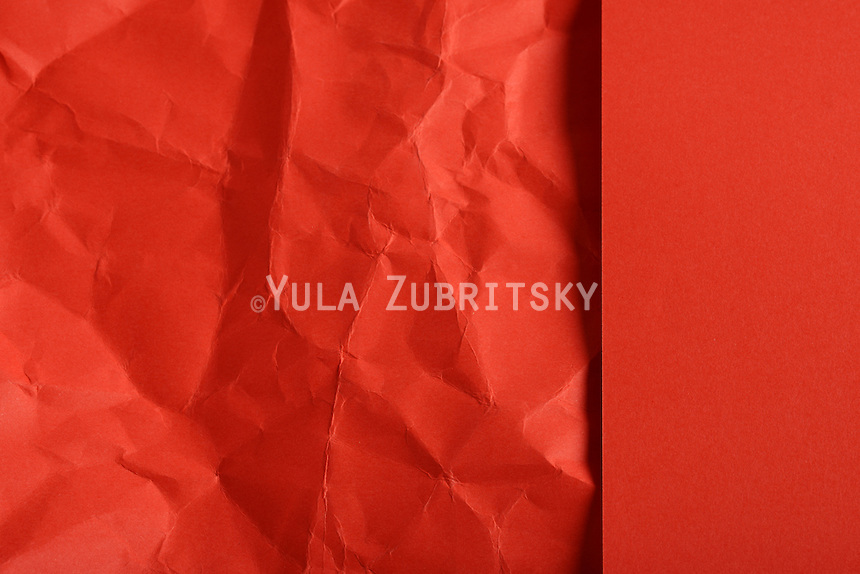 red paper background - Crumpled partially<br /> full page<br /> Great for menu, navigation area,page template uses<br /> XXXL file