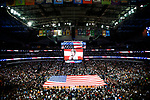 DALLAS, TX - APRIL 2: The national anthem is performed during the 2017 Women's Final Four at American Airlines Center on April 2, 2017 in Dallas, Texas. (Photo by Timothy Nwachukwu/NCAA Photos via Getty Images)