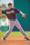11 March 2013: Atlanta Braves infielder Joe Leonard warms up prior to a Spring Training game against the Washington Nationals at Space Coast Stadium in Viera, Florida. The Braves defeated the Nationals 7-2 in Grapefruit League play. Mandatory Credit: Ed Wolfstein Photo *** RAW (NEF) Image File Available ***