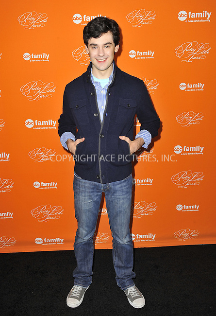 WWW.ACEPIXS.COM....October 16 2012, LA....Brendan Robinson arriving at ABC Family's 'Pretty Little Liars' Halloween Episode Premiere at Hollywood Forever on October 16, 2012 in Hollywood, California. ......By Line: Peter West/ACE Pictures......ACE Pictures, Inc...tel: 646 769 0430..Email: info@acepixs.com..www.acepixs.com