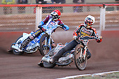 Heat 8: Tyron Proctor (white) and Kauko Nieminen (red) - Lakeside Hammers vs Wolverhampton Wolves - Elite League Speedway at Arena Essex Raceway - 16/05/11 - MANDATORY CREDIT: Gavin Ellis/TGSPHOTO - Self billing applies where appropriate - Tel: 0845 094 6026