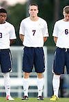 21 September 2012: Virginia's Todd Wharton. The University of North Carolina Tar Heels defeated the University of Virginia Cavaliers 1-0 at Fetzer Field in Chapel Hill, North Carolina in a 2012 NCAA Division I Men's Soccer game.