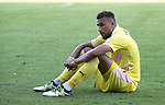 St Johnstone v Hearts&hellip;17.09.16.. McDiarmid Park  SPFL<br />Faycal Rherras gutted at full time<br />Picture by Graeme Hart.<br />Copyright Perthshire Picture Agency<br />Tel: 01738 623350  Mobile: 07990 594431