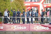 WIELRENNEN: BOLSWARD: 18-09-2016, Eneco Tour presentatie renners, ©foto Martin de Jong