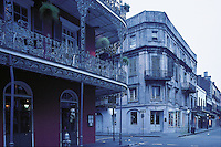 Louisiana, French Quarter In New Orleans, the only intact French Colonial and Spanish settlement in the United States, Dawn, These United States.page 229