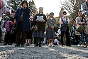 April 11, 2011, Kamakura, Japan - Two nuns (C) attend a special commemorative event at Hachimangu Shrine to offer prayers for the relief of the March 11 earthquake and tsunami victims. Today is exactly one month since the devastating disaster that left Tohoku with almost nothing to spare. (Photo by Christopher Jue/AFLO) [2331].