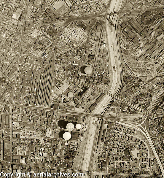 Historical aerial photograph Los Angeles, California 1948