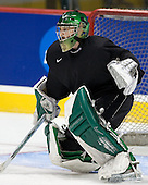 Aaron Walski (North Dakota 30) -The 2008 Frozen Four participants practiced on Wednesday, April 9, 2008, at the Pepsi Center in Denver, Colorado.