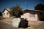 An overflowing dumpster in Mendota, Calif., September 10, 2012.