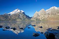 Jenny Lake, reflections, Grand Tetons