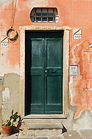 Detail of old door, Camogli, Liguria, Italy