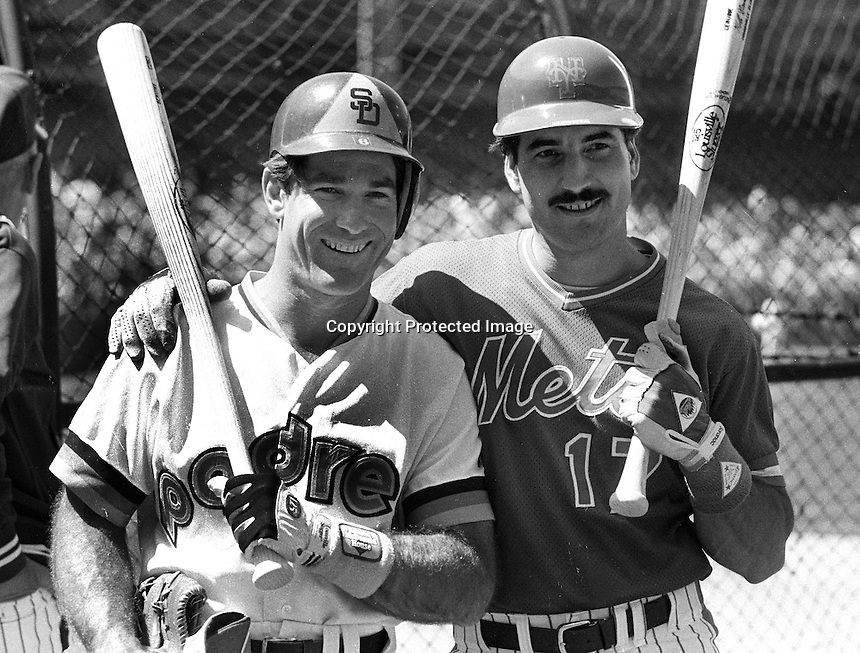 All-Stars Steve Garvey and Keith Hernandez at the 1984 game in San Francisco..(photo/Ron Riesterer)