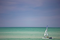 Windrider Trimaran sailboat, Anna Maria Island, Gulf of Mexico, Florida, USA