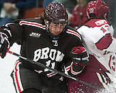Joey de Concilys (Brown - 11) - The visiting Brown University Bears defeated the Harvard University Crimson 2-0 on Saturday, February 22, 2014 at the Bright-Landry Hockey Center in Cambridge, Massachusetts.