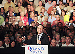 Lima, Ohio: September 24, 2012<br /> Reince Priebus, chairman of the Republican Party, delivers introductory remarks at a town hall meeting featuring Paul Ryan, the vice presidential nominee of the Republican Party. Priebus said, &quot;Y'all ready to fire Barack Obama and save America? We're in a battle for freedom in this country.&quot; It happened at the Veterans Memorial Civic &amp; Convention Center. &copy;Chris Fitzgerald / CandidatePhotos
