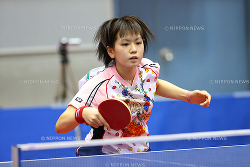 Yuu Amano, OCTORBER 19, 2012 - Table Tennis : All Japan Table Tennis Championships, Women's Team qualifying at Fuchu city Gymnasium, Tokyo, Japan. (Photo by AFLO SPORT) [1156]