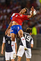 Costa Rica midfielder Celso Borges (5). The United States defeated Costa Rica 1-0 during a CONCACAF Gold Cup group B match at Rentschler Field in East Hartford, CT, on July 16, 2013.