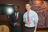 Ted James, M.D., left, Charles Ashley. SURGERY SENIOR MAJOR SCIENTIFIC PROGRAM.