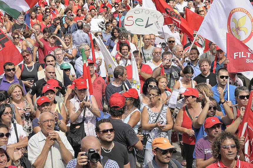 Palermo: general strike by trade unionist CGIL.Palermo: sciopero generale indetto dalla CGIL