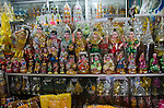 Religious statues and other items of worship at a shop.