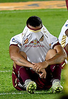 BOGOTA - COLOMBIA - 18-12-2016: The players of Deportes Tolima, reacts after missing a game for the Champions of the Liga Aguila II -2016 at the Nemesio Camacho El Campin Stadium in Bogota city, Photo: VizzorImage / Luis Ramirez / Staff.