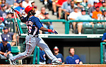 12 March 2009: Washington Nationals' outfielder Lastings Milledge in action during a Spring Training game against the Atlanta Braves at Disney's Wide World of Sports in Orlando, Florida. The Braves defeated the Nationals 6-2 in the Grapefruit League matchup. Mandatory Photo Credit: Ed Wolfstein Photo