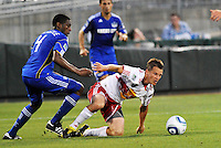 Seth Stammler (white), Craig Rocastle...Kansas City Wizards were defeated 3-0 by New York Red Bulls at Community America Ballpark, Kansas City, Kansas.