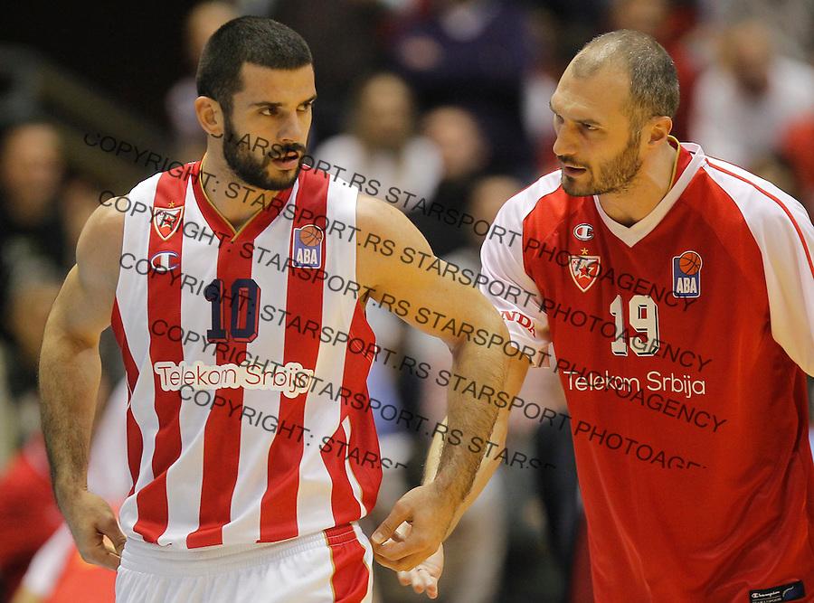 Kosarka ABA League season 2015-2016<br /> Crvena Zvezda v Partizan<br /> Branko Lazic and Marko Simonovic<br /> Beograd, 03.11.2015.<br /> foto: Srdjan Stevanovic/Starsportphoto&copy;