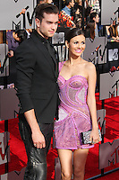 LOS ANGELES, CA, USA - APRIL 13: Actor Pierson Fode and Actress Victoria Justice arrive at the 2014 MTV Movie Awards held at Nokia Theatre L.A. Live on April 13, 2014 in Los Angeles, California, United States. (Photo by Xavier Collin/Celebrity Monitor)