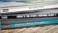 Oasis CD Albums, Definitely Maybe - 1994, What's The story Morning Glory - 1995, Be Here Now - 1997.   May 2014.