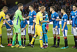 Rangers v St Johnstone&hellip;26.10.16..  Ibrox   SPFL<br />Steven Anderson leads the siants team before kick off<br />Picture by Graeme Hart.<br />Copyright Perthshire Picture Agency<br />Tel: 01738 623350  Mobile: 07990 594431