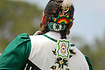 Native American beadwork is worn by a dancer at the 8th Annual Red Wing PowWow in Virginia Beach, Virginia.