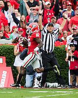 ATHENS, GEORGIA - September 26, 2015: University of Georgia Bulldogs vs. Southern Jaguars at Sanford Stadium.   Final score Georgia 48, Southern 6.