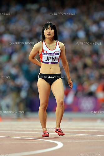 Anna Doi (JPN),.AUGUST 9, 2012 - Athletics : Women's 4x100m Relay Round 1 at Olympic Park - Olympic Stadium during the London 2012 Olympic Games in London, UK. .(Photo by Jun Tsukida/AFLO SPORT) [0003]