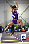 11 MAR 2011: Tanasia Hoffler of Williams College long jumps during the Division III Men's and Women's Indoor Track and Field Championships held at the Capital Center Fieldhouse on the Capital University campus in Columbus, OH.  Jay LaPrete/NCAA Photos