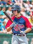 8 July 2014: Lowell Spinners outfielder Mike Meyers in action against the Vermont Lake Monsters at Centennial Field in Burlington, Vermont. The Lake Monsters rallied in the 9th inning to defeat the Spinners 5-4 in NY Penn League action. Mandatory Credit: Ed Wolfstein Photo *** RAW Image File Available ****